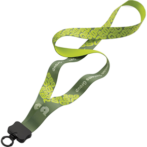 dye-sublimated lanyard